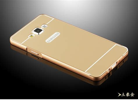 Metal Twotone Samsung Grand Prime Gold luxury 3d arc shaped aluminum metal for samsung