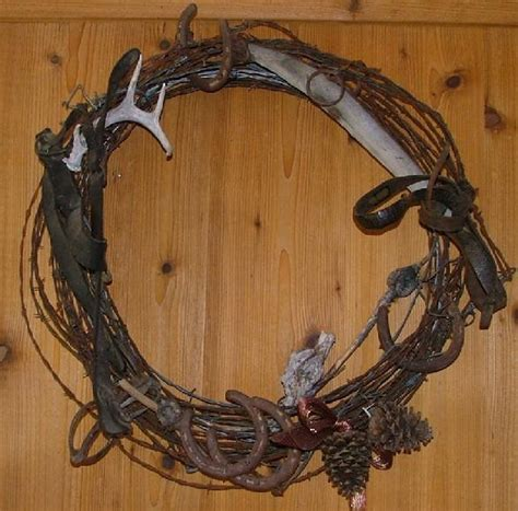barbed wire home decor barbed wire lucky horseshoe