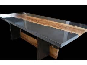 Dining Table Cover Near Me Polished Concrete With Addition Of Wood Slabs For Table Or