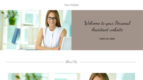 Exle 18 Personal Assistant Website Template Godaddy Assistant Website Template