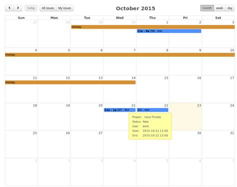 better calendar megacalendar the better calendar for redmine devbert