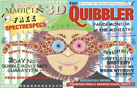 printable quibbler cover planet print harry potter week letters to the quibbler