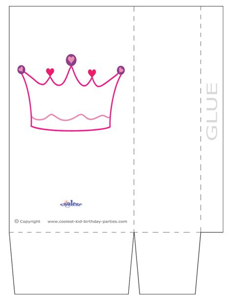 printable disney crown princess crown template cut out