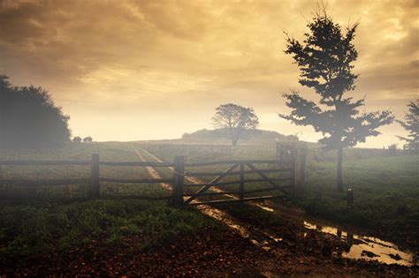 tutorial photoshop landscape photography how to give landscapes a misty sunrise effect in