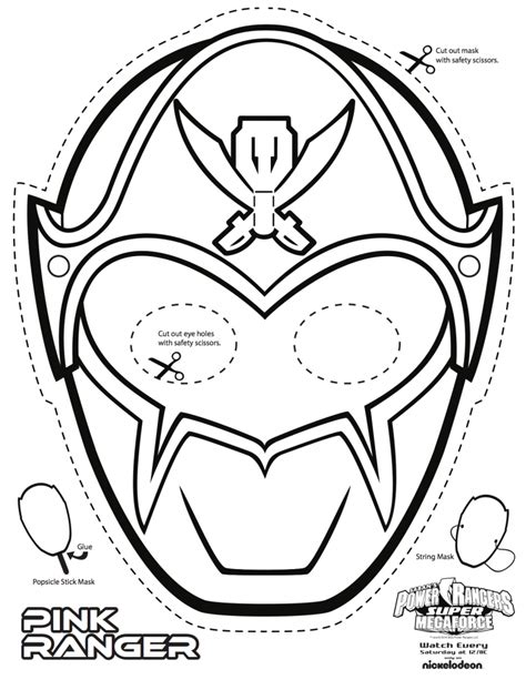 Power Rangers Mask Coloring Pages | free coloring pages of power ranger samurai mask