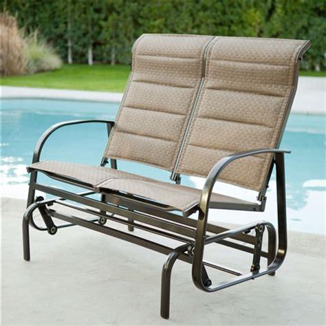 outdoor loveseat glider weatherproof outdoor loveseat glider chair with padded