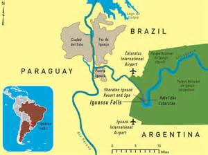 falls south america map argentina brazil iguassu falls chapter 4 2014 yellow