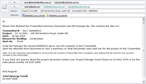 project manager email templates transmittal template exle of a transmittal letter