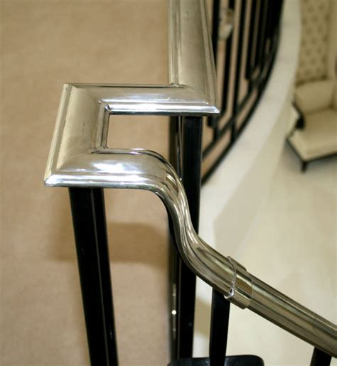 stainless steel banister handrail hand forged profiled stainless steel hand rail