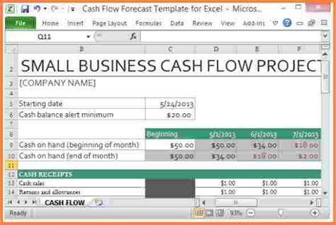 a simple cash flow spreadsheet anybody can use the u s small