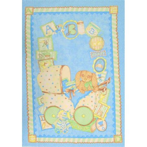 Cot Panels For Quilting by Baby Boy Infant Flannel Cot Crib Quilting Patchwork Panel