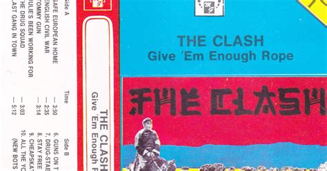 Clash Give Em Enough Rope Cd ok蛯adki cd kaset i winyli the clash give em enough rope mg 1106 mc