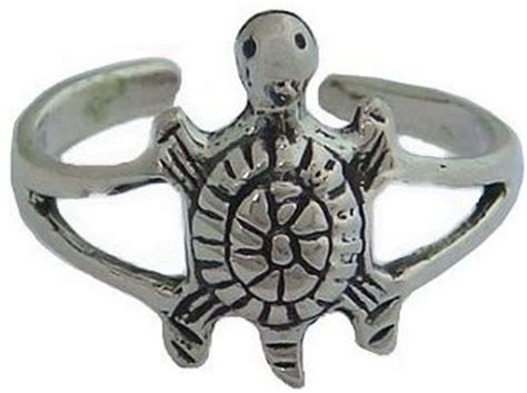 Sterling Silver Turtle Honu Ring sterling silver hawaiian honu sea turtle toe ring from