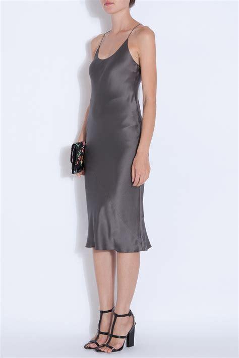 Slop Dress t by wang silk satin slip dress in gray lyst