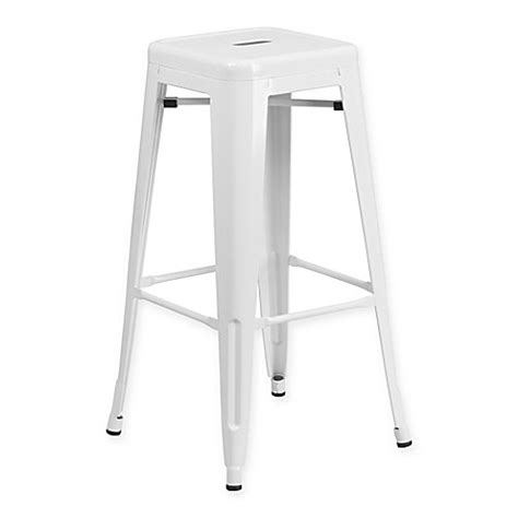 Square Backless Bar Stools by Buy Flash Furniture Backless Square Metal Bar Stool In