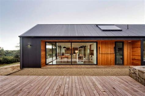 what is a contemporary home contemporary house with three gable roofs in tasmania