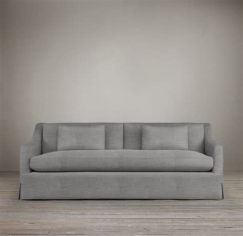belgian classic slope arm slipcovered sofa 17 best images about coffee table on living