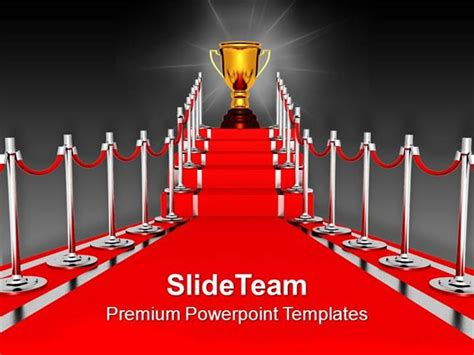 Red Carpet Award Ceremony Powerpoint Templates Ppt Backgrounds For Authorstream Scholarship Presentation Template