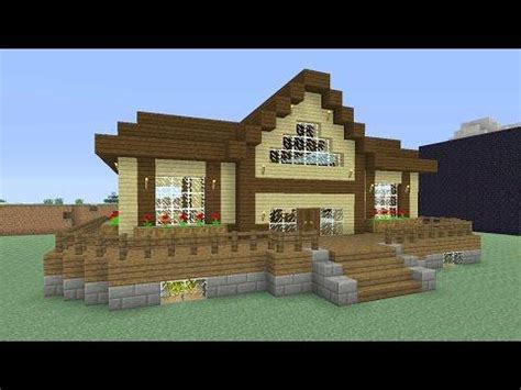 minecraft cool house tutorial minecraft house tutorial cool and easy wooden house in 15 minutes