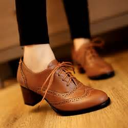 details about retro brogues wing tip lace up shoes womens