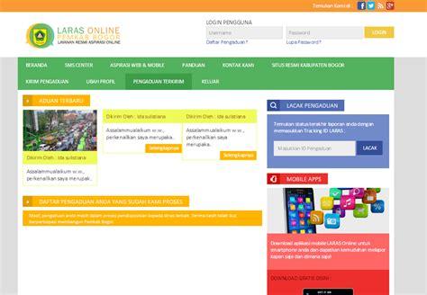 laras online pengaduan kabupaten bogor informatika