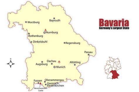 map of germany showing major cities bavaria map and travel guide