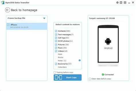 restore android how tos sync photos from itunes to android phone or samsung
