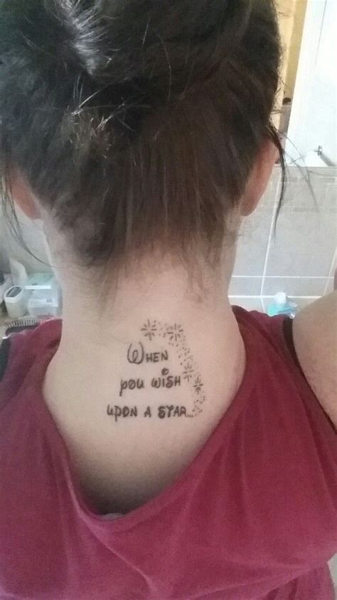 wish upon a star tattoo design 17 best images about tattoos on disney
