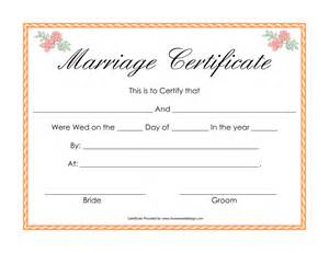 novelty birth certificate template best photos of printable marriage license printable