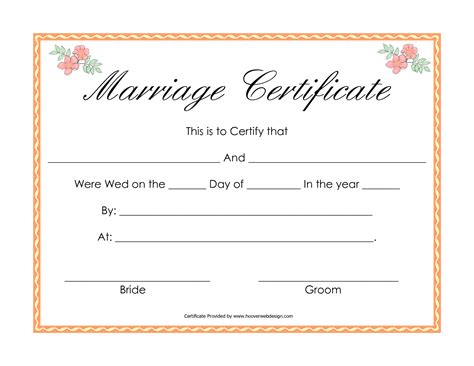 best photos of printable fake marriage license printable