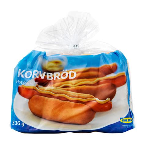 ikea dog korvbr 214 d hot dog bread frozen ikea