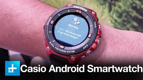 Casio Smartwatch Android casio wsd f20 android wear smartwatch take at ces
