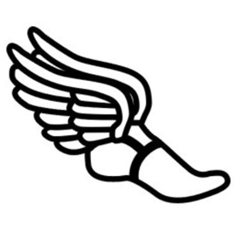 track and field tattoo designs track shoe with wings clip track tattoos track