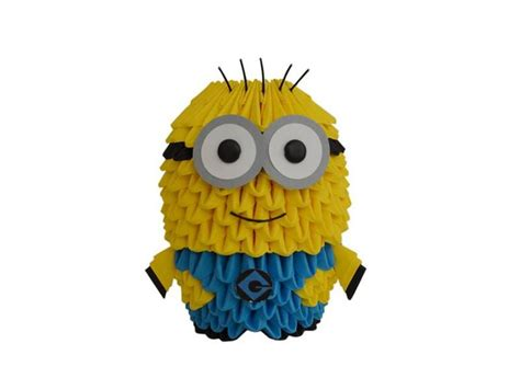 tutorial origami 3d minion origami minion origami 3d pinterest origami and