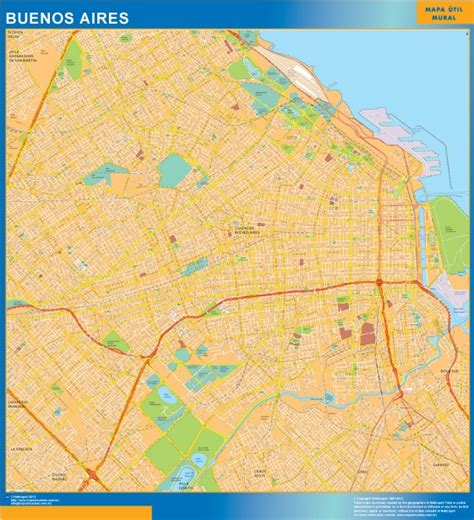 buenos aires map our buenos aires wall map wall maps mapmakers offers poster laminated or magnetic framed