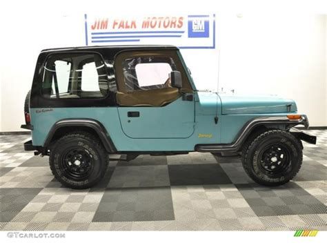 jeep teal 1995 teal pearl jeep wrangler s 4x4 62758206 photo 26