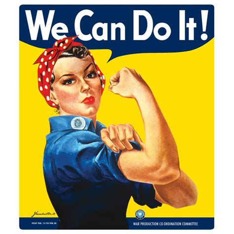 we it we can do it embossed metal sign