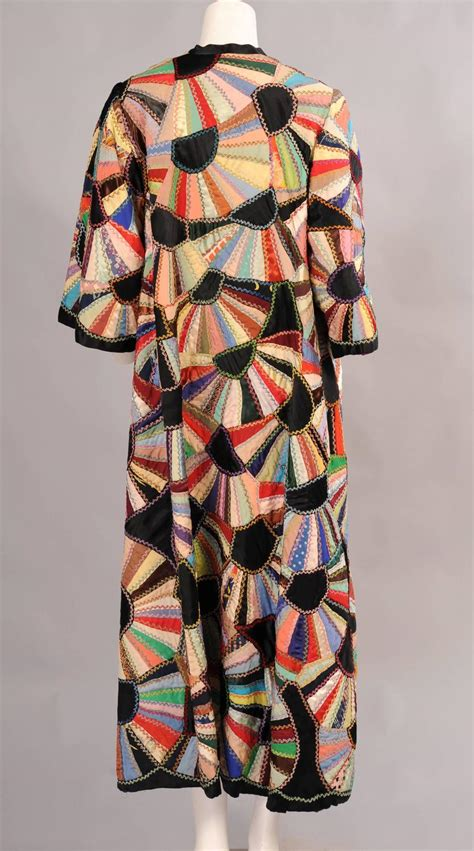 Silk Patchwork - vintage coat made from a made silk patchwork fan