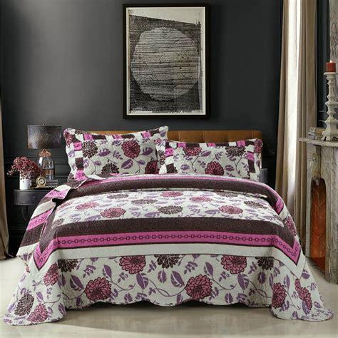 Pink Patchwork Bedding - dada bedding bohemian floral chrysanthemum pink brown