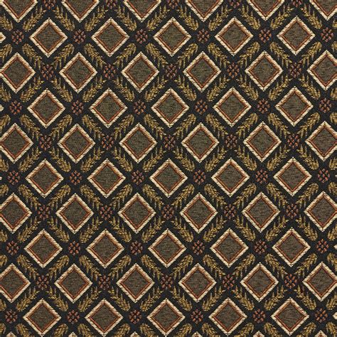 black drapery fabric e636 diamond black gold green damask upholstery drapery