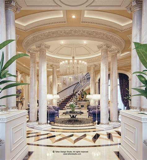 luxury mansion interior qatar  behance