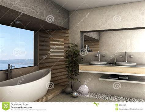 Luxury Spa Interior Design - modernt badrum arkivfoton bild 33634023