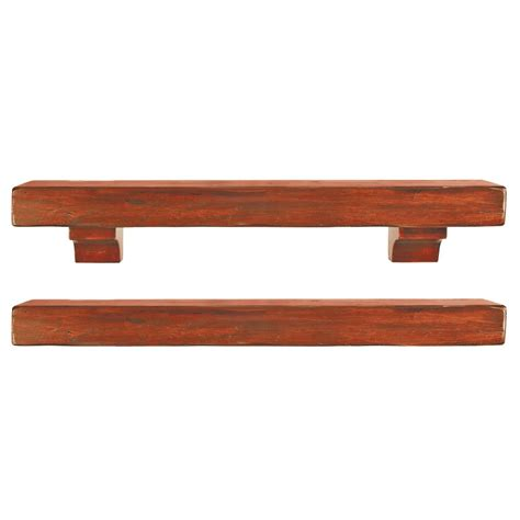 Wood Mantel Shelf by Pearl Mantels 412 60 50 Shenandoah Pine 60 Inch Fireplace