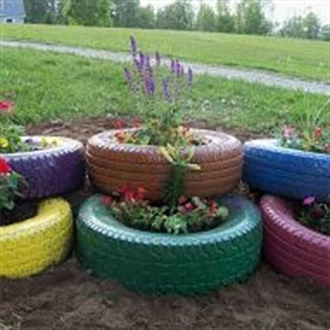 tire flower beds use painted old tires as a flower bed or a garden fun