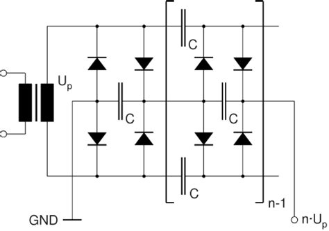 floating capacitor multiplier high voltage