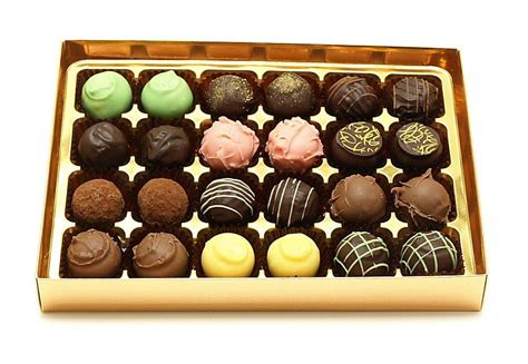 24 assorted luxury handmade chocolate truffles melchior