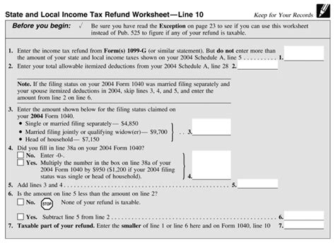 State Tax Refund Worksheet by State And Local Income Tax Refund Worksheet Worksheets