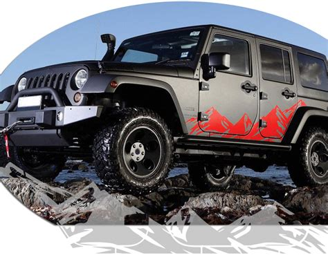 jeep wrangler side jeep wrangler mountain range body side graphics kit 2007 2017