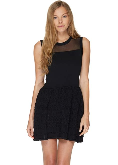 brigitte bardot megane dress black bandage skater dress