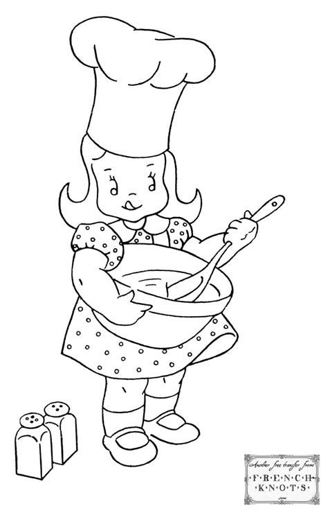 girl chef coloring page girl cooking coloring pages